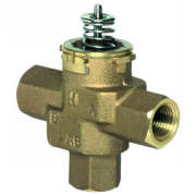 Honeywell VCZNB6100 3-way 1/2 in. FNPT VC valve assembly for hydronic with 3.7 Cv and linear flow